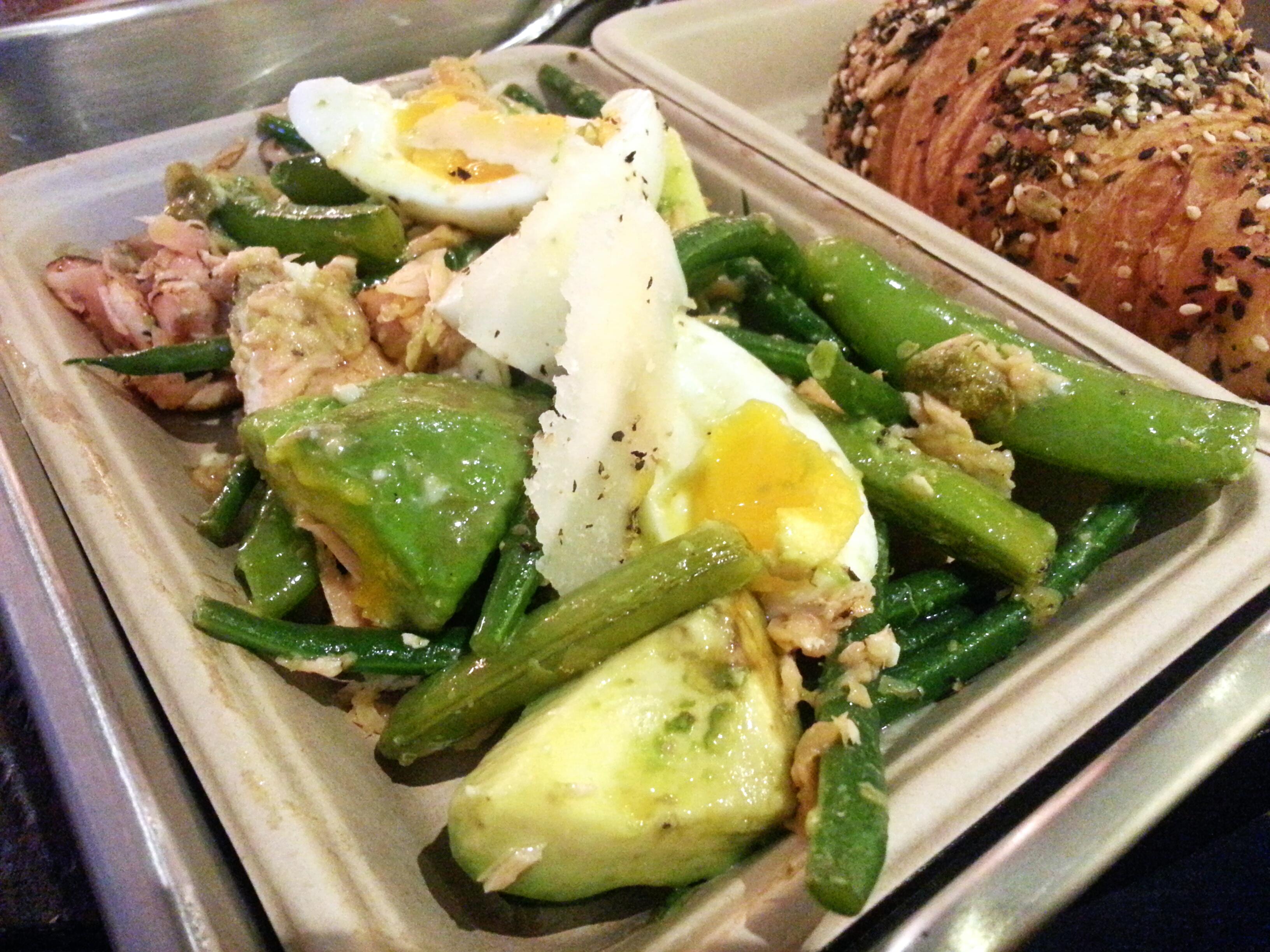 Salmon salad with avocado, sugar snaps and egg at Urban Bakery ...