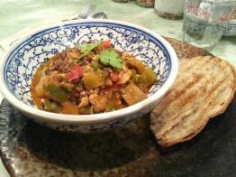 Daily goodness bowl - tofu chili - HK$85