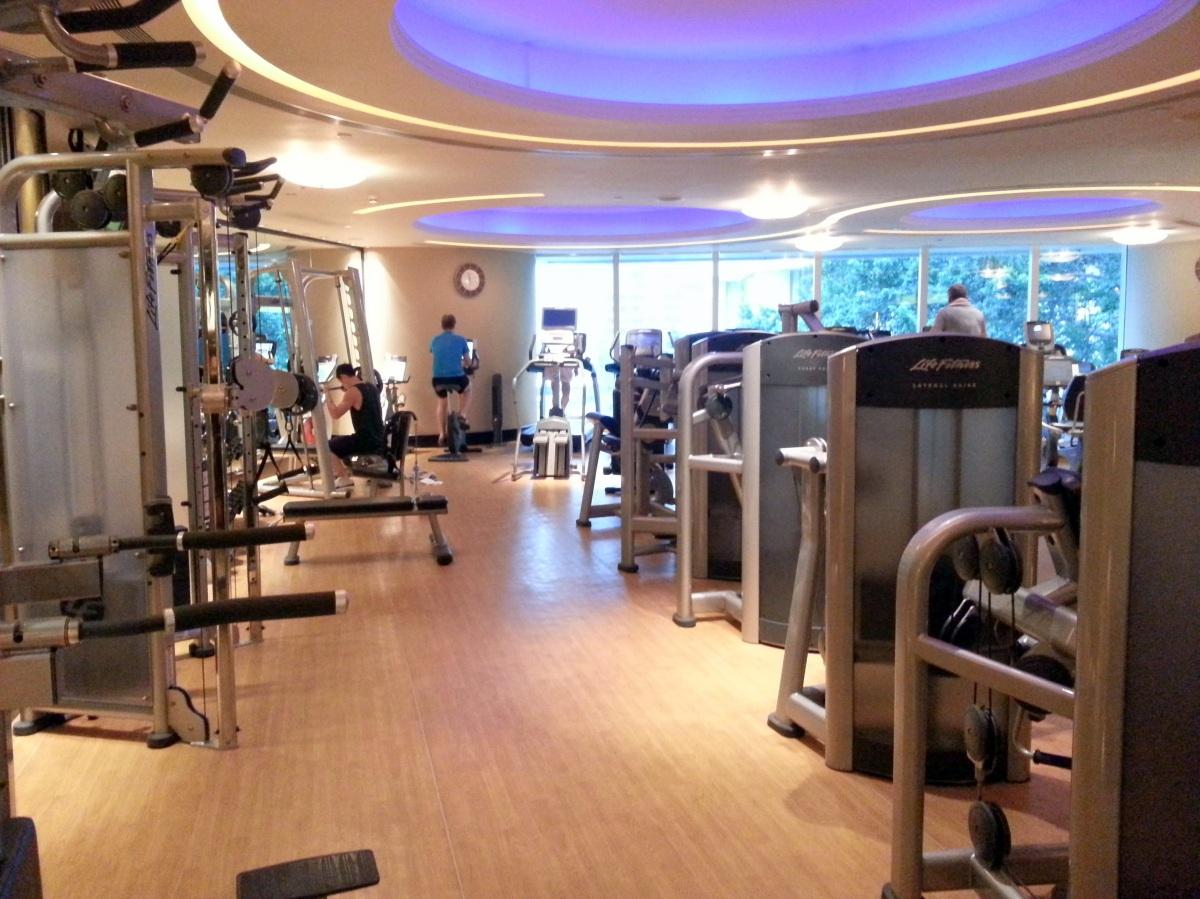 Hotel gym island shangri la hong kong healthy