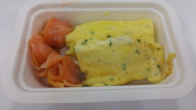 BREAKFAST: Smoked salmon egg roll up
