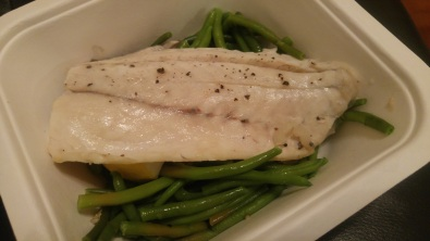 DINNER: Barramundi with French beans