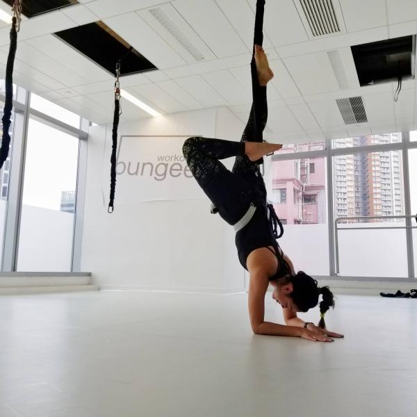 Bungee Workout Hong Kong Scorpion Pose